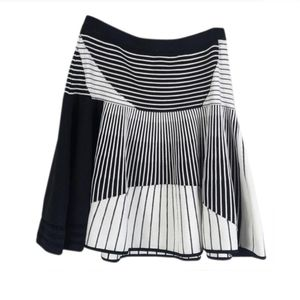 Prabal Gurung Striped Knitted Skater Skirt
